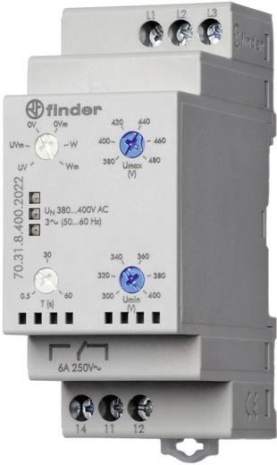Überwachungsrelais 415 - 380 V/AC 1 Wechsler 1 St. Finder 70.31.8.400.2022 3-Phasen-Netzüberwachung, Unterspannung, Über