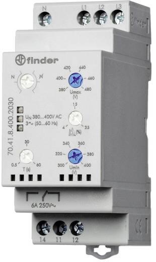 Überwachungsrelais 415 - 380 V/AC 1 Wechsler 1 St. Finder 70.41.8.400.2030 3-Phasen-Netzüberwachung, N-Leiter-Überwachun