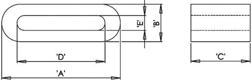 Ferrit-Flachkern 90 Ω (L x B x H) 33.5 x 12 x 6.5 mm Richco RFS2-21-12 1 St.