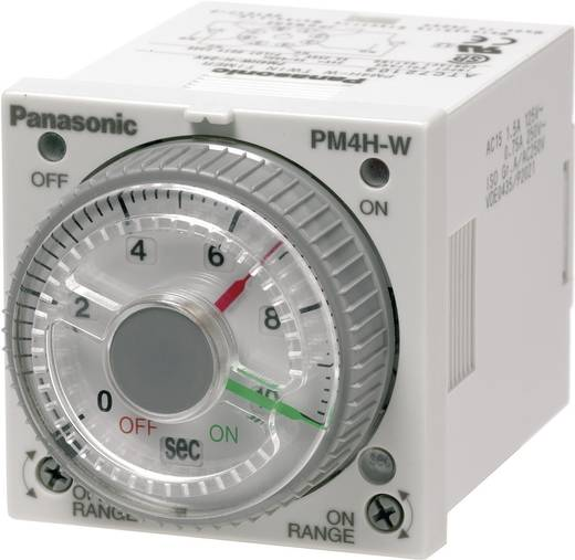 Zeitrelais Multifunktional 24 V/DC, 24 V/AC 1 St. Panasonic PM4HWH24SWJ Zeitbereich: 1 s - 500 h 2 Wechsler