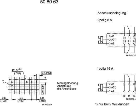 Printrelais 12 V/DC 8 A 2 Wechsler TE Connectivity RT424A12 1 St.