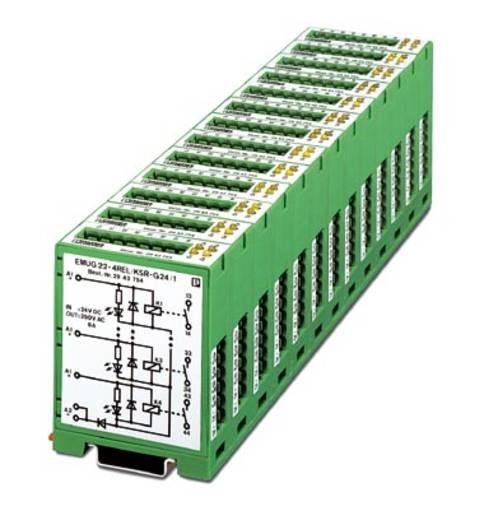 Relaisbaustein 5 St. Phoenix Contact EMUG 22- 4REL/KSR-G 24/ 1 Nennspannung: 24 V/DC Schaltstrom (max.): 6 A 1 Schließer