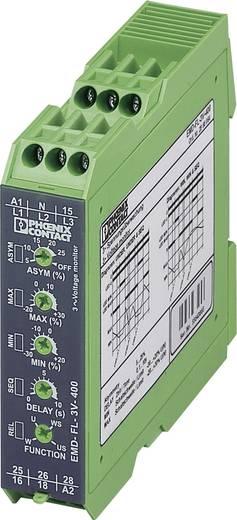 Überwachungsrelais 2 Wechsler 1 St. Phoenix Contact EMD-FL-3V-400 3-Phasen, Spannung, Asymmetrie, Unterspannung, Phasen