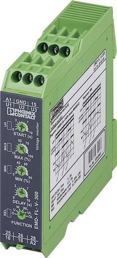Überwachungsrelais 2 Wechsler 1 St. Phoenix Contact EMD-FL-V-300 1-Phase, Spannung, Überspannung, Unterspannung, Window