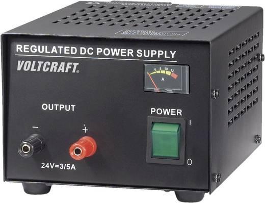 VOLTCRAFT FSP-1243 Labornetzgerät, Festspannung 24 V/DC 3 A 72 W Anzahl Ausgänge 1 x Kalibriert nach ISO