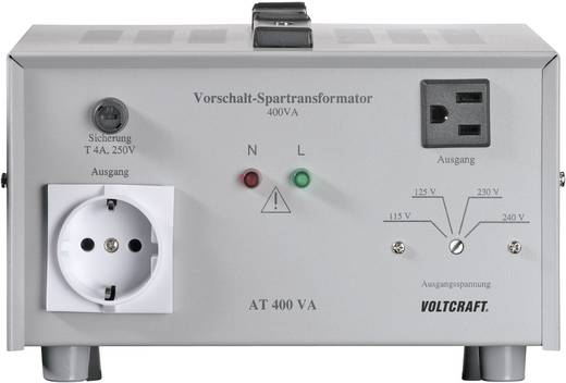VOLTCRAFT AT-400 NV Vorschalt-Transformator, Spannungswandler, 115/125/230/240 V/AC / 230/240/115/125 V/AC / 400 W - ISO