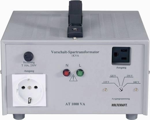 VOLTCRAFT AT-1000 NV Vorschalt-Transformator, Spannungswandler, 115/125/230/240 V/AC / 230/240/115/125 V/AC / 1000 W - D