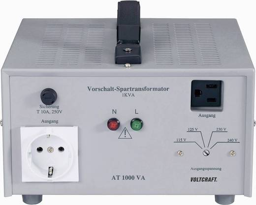 VOLTCRAFT AT-1500 NV Vorschalt-Transformator, Spannungswandler, 115/125/230/240 V/AC / 230/240/115/125 V/AC / 1500 W - D
