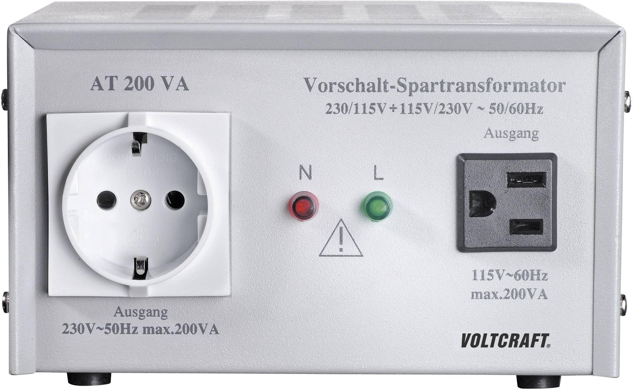 VOLTCRAFT IVC 115//230 Spannungswandler 80 Step-Up Converter 115 V auf 230 V