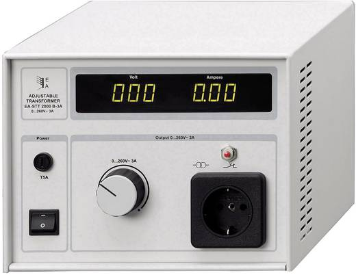 Labor-Trenntrafo einstellbar EA Elektro-Automatik EA-STT 2000B 4.5 1200 VA 0 - 260 V/AC Kalibriert nach ISO