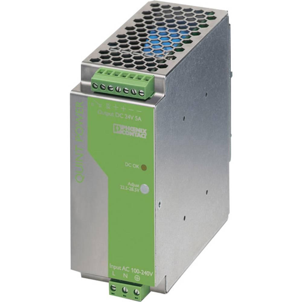 Rail mounted PSU (DIN) Phoenix Contact QUINT-PS-100-240AC/24DC/5 24