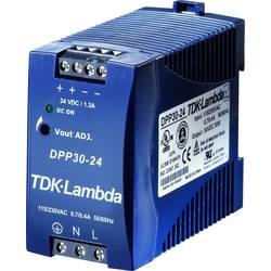 Zdroj na DIN lištu TDK-Lambda DPP30-24, 24 V/DC, 1,25 A