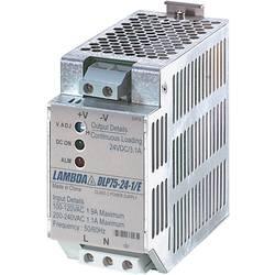 Sieťový zdroj na montážnu lištu (DIN lištu) TDK-Lambda DLP-75-24-1/E, 1 x, 24 V/DC, 3.1 A, 75 W