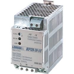 Sieťový zdroj na montážnu lištu (DIN lištu) TDK-Lambda DLP-120-24-1/E, 1 x, 24 V/DC, 5 A, 120 W