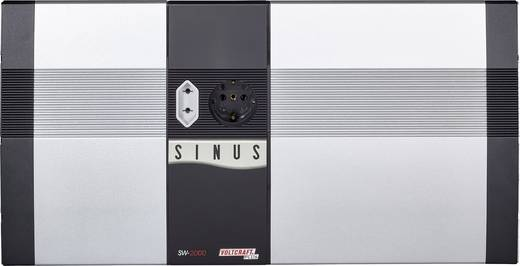 Wechselrichter VOLTCRAFT SW-2000 12V 2000 W 12 V/DC 12 V/DC Fernbedienbar Schraubklemmen Euro-Steckdose , Schutzkontakt-