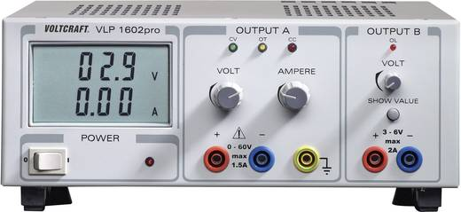 Labornetzgerät, einstellbar VOLTCRAFT VLP 1602pro 0 - 60 V/DC 0 - 1.5 A 102 W Anzahl Ausgänge 2 x Kalibriert nach ISO