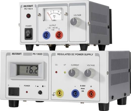 VOLTCRAFT PS-1302 D Labornetzgerät, einstellbar 0 - 30 V/DC 0 - 2 A 60 W Anzahl Ausgänge 1 x Kalibriert nach ISO