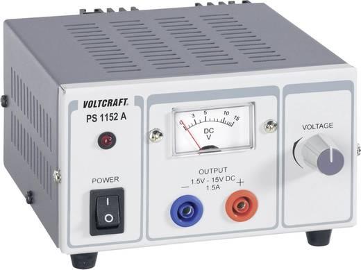 Labornetzgerät, einstellbar VOLTCRAFT PS-1152 A 1.5 - 15 V/DC 1.5 - 1 A 22.5 W Anzahl Ausgänge 1 x Kalibriert nach DAk