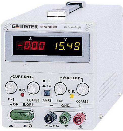 Labornetzgerät, einstellbar GW Instek SPS-1820 0 - 18 V/DC 0 - 20 A 360 W Remote Anzahl Ausgänge 1 x Kalibriert nach IS