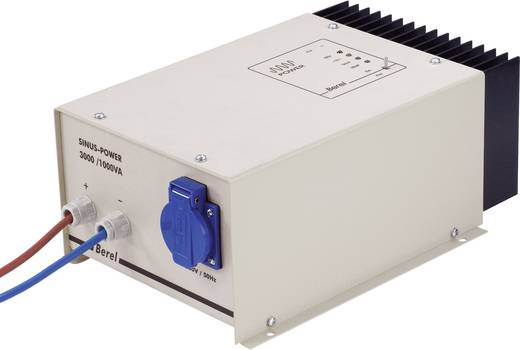 Wechselrichter Berel SP1000/12/TI 1000 W 12 V/DC 12 V/DC Kabel mit offenen Enden Schutzkontakt-Steckdose
