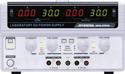 Labornetzgerät, einstellbar GW Instek GPS-2303 0 - 30 V/DC 0 - 3 A 180 W Anzahl Ausgänge 2 x Kalibriert nach DAkkS
