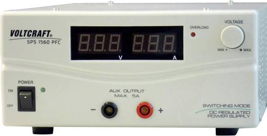 Labornetzgerät, einstellbar VOLTCRAFT SPS 1560 PFC 1 - 15 V/DC 6 - 60 A 900 W Remote Anzahl Ausgänge 2 x