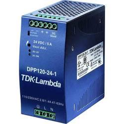 Sieťový zdroj na montážnu lištu (DIN lištu) TDK-Lambda DPP-120-48-1, 1 x, 48 V/DC, 2.5 A, 120 W