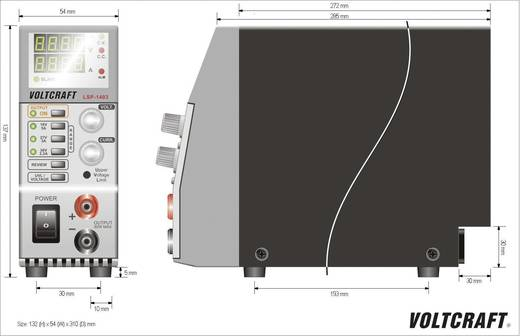 Labornetzgerät, einstellbar VOLTCRAFT LSP-1403 0 - 36 V/DC 0 - 5 A 80 W Master/Slave-Funktion Anzahl Ausgänge 1 x