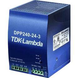 Sieťový zdroj na montážnu lištu (DIN lištu) TDK-Lambda DPP-240-24-1, 1 x, 24 V/DC, 10 A, 240 W
