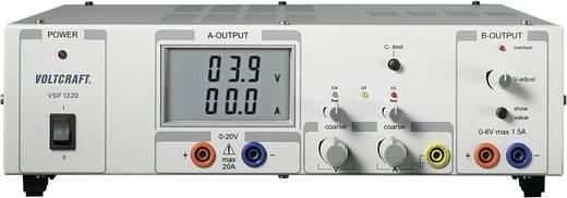 Labornetzgerät, einstellbar VOLTCRAFT VSP 1220 0.1 - 20 V/DC 0 - 20 A 409 W Anzahl Ausgänge 2 x Kalibriert nach ISO