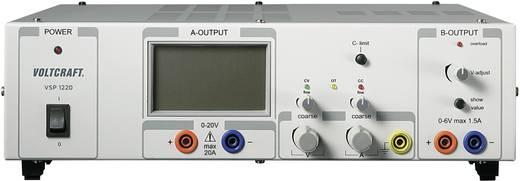 Labornetzgerät, einstellbar VOLTCRAFT VSP 1220 0.1 - 20 V/DC 0 - 20 A 409 W Anzahl Ausgänge 2 x Kalibriert nach DAkkS
