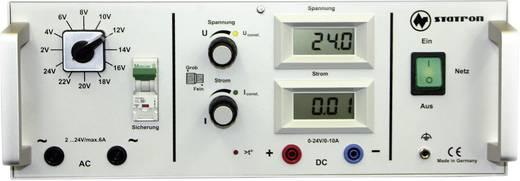 Statron 5340.6 Labornetzgerät, einstellbar 2 - 24 V/AC 5 A 360 W Anzahl Ausgänge 2 x Kalibriert nach ISO