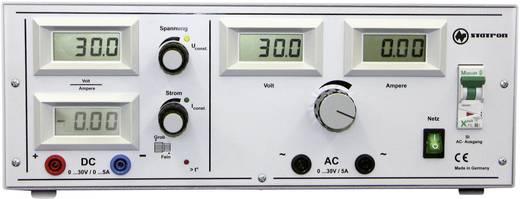 Labornetzgerät, einstellbar Statron 5340.92 0 - 30 V/AC 5 A 300 W Anzahl Ausgänge 2 x Kalibriert nach ISO