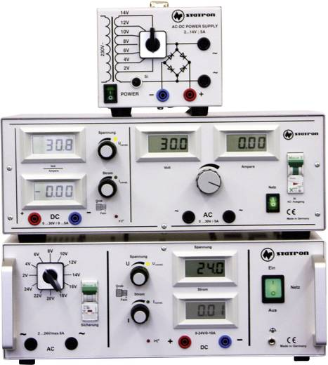 Labornetzgerät, einstellbar Statron 5359.3 2 - 14 V/AC 5 A 75 W Anzahl Ausgänge 2 x