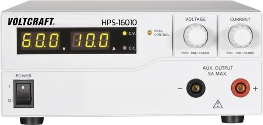 Labornetzgerät, einstellbar VOLTCRAFT HPS-16010 1 - 60 V/DC 0 - 10 A 600 W Remote Anzahl Ausgänge 1 x Kalibriert nach I