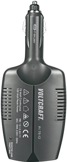 VOLTCRAFT PI 75-12 Wechselrichter 75 W 12 V/DC - 230 V/AC Lüfterlos
