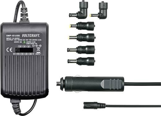 Notebook-Netzteil VOLTCRAFT SMP-45 USB 45 W 9.5 V/DC, 12 V/DC, 15 V/DC, 16 V/DC, 18 V/DC, 19 V/DC, 20 V/DC 3 A