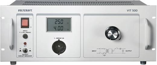Labor-Trenntrafo einstellbar VOLTCRAFT VIT 500 1 - 250 V/AC Kalibriert nach ISO