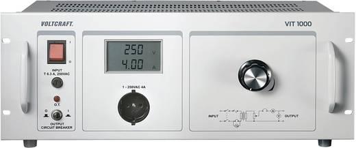 Labor-Trenntrafo einstellbar VOLTCRAFT VIT 1000 1 - 250 V/AC Kalibriert nach ISO