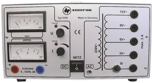 Labornetzgerät, einstellbar Statron 5340.1 0 - 12 V/AC 3 A 72 W Anzahl Ausgänge 2 x