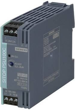Zdroj na DIN lištu Siemens SITOP PSU100C, 24 V/DC, 1,3 A