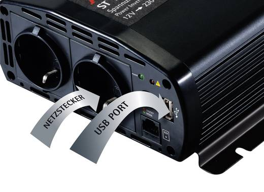 Wechselrichter AEG ST 800 800 W 12 V/DC 12 V/DC (10.5 - 12.0 V/DC) inkl. Fernbedienung Schraubklemmen Schutzkontakt-Stec