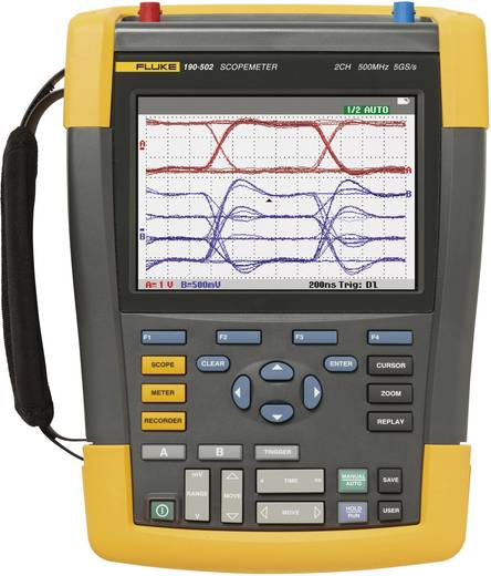 Hand-Oszilloskop (Scope-Meter) Fluke 190-502/EU 500 MHz 2-Kanal 5 GSa/s 10 kpts 8 Bit Kalibriert nach ISO Digital-Speich