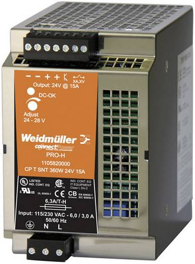 Hutschienen-Netzteil (DIN-Rail) Weidmüller CP T SNT 360W 24V 15A 28 V/DC 15 A 360 W 1 x