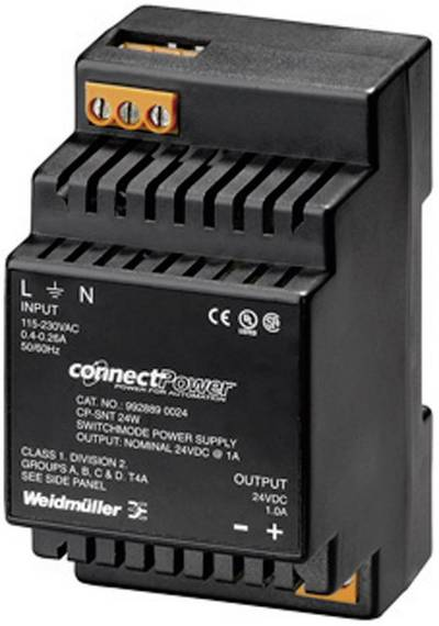 Rail mounted PSU (DIN) Weidmüller CP SNT 24W 24V 1A 24 Vdc 1 A 24 W 1 x