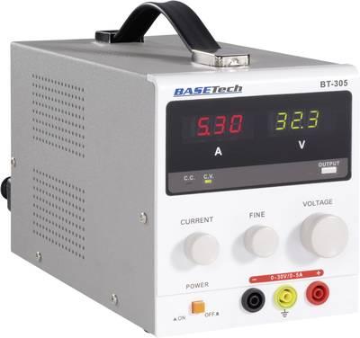 Bench PSU (adjustable voltage) Basetech BT-305 0 - 30 Vdc 0 - 5 A 150 W No. of outputs 1 x