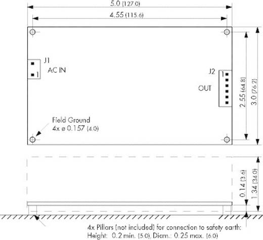 AC/DC-Netzteilbaustein, open frame TracoPower TOP 200-124 24 V/DC 8.3 A 200 W