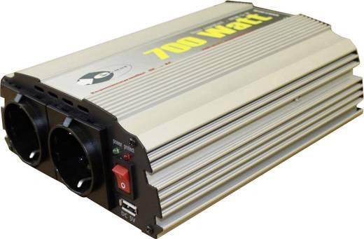 Wechselrichter e-ast CL700-D-12 700 W 12 V/DC 12 V/DC (11 - 15 V) Schraubklemmen USB-Anschluss, Schutzkontakt-Steckdose
