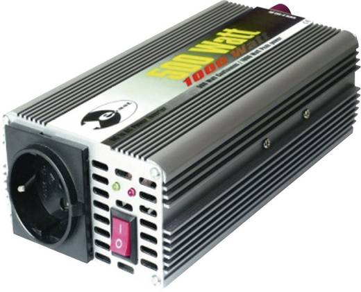 Wechselrichter e-ast CL 500-12 500 W 12 V/DC 12 V/DC (11 - 15 V) Schraubklemmen Schutzkontakt-Steckdose
