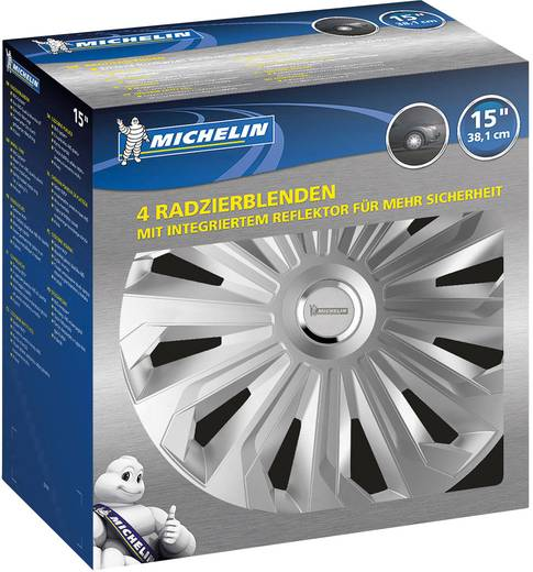 Michelin Monique Radkappen R15 Silber, Chrom 4 St.